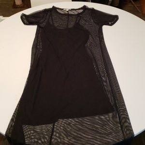 Very sheer goth dress with slip